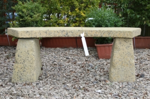 Curved Stone Bench 330x400x190mm