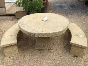 Stone Table round 1.2 dia Set