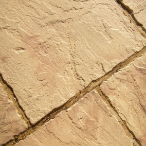 Slab YorkStone Riven Buff Brown 38x300x300mm  Each