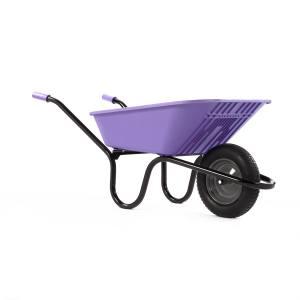 Wheelbarrow Polypro Go - Lilac90 Litre Pneu. Each