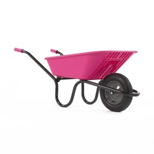 Wheelbarrow Polypro Go - Pink 90 Litre Pneu. Each
