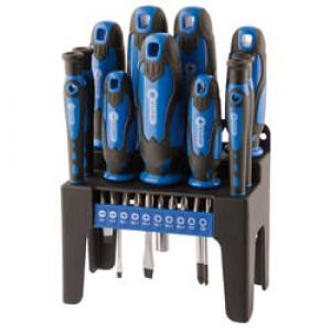 Screwdriver Set & Stand Blue   21 Piece