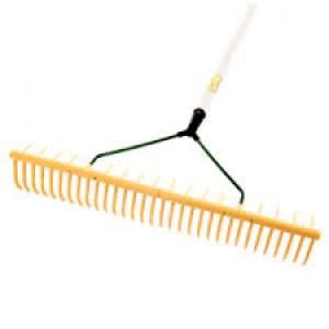 Rake Plastic Wooden Shaft  32 Prong   Each