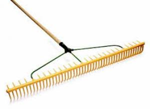 Rake Plastic Wooden Shaft  48 Prong  Each