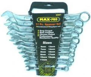 Spanner Combination Wrench Set8 - 19mm  11 Piece