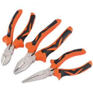 Pliers Set Draper Soft Grip   Orange  7 Piece