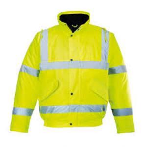 Jacket Bomber Hi Viz   L   Yellow