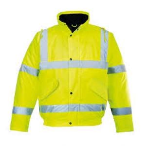 Jacket Bomber Hi Viz  XL  Yellow