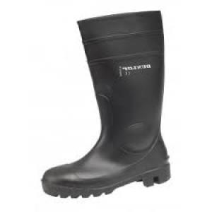 Boots Wellington Steel M/Sole Size 9  Black