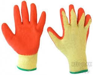 Gloves Rubber Coated Palm  Pair