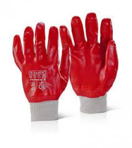 Gloves PVC Knit Wrist  Pair