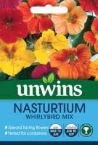 Nasturtium Whirlybird Mix  Per Pack