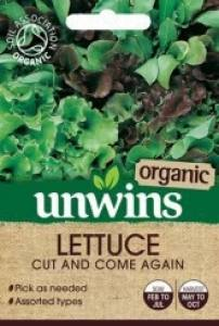 Lettuce Leaves Cut & ComeAgainOrganic  Per Pack