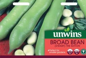 Broad Bean (Dwarf) The Sutton  Per Pack