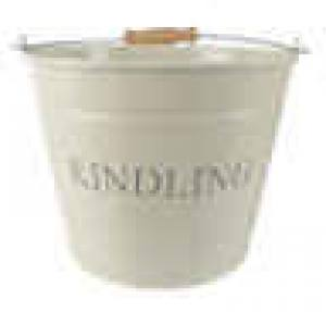 Kindling Bucket Cream  Small  Each