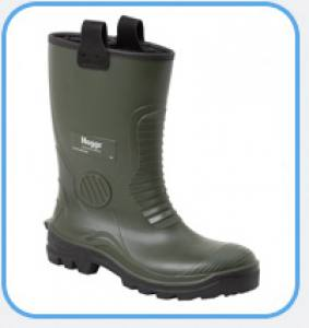 Boot Wellington Rigger Green  Size 10  Pair