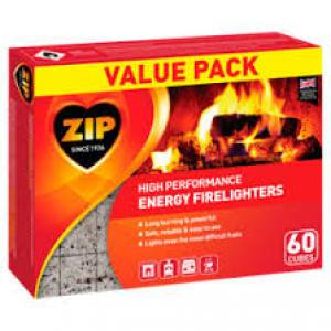 Zip Original Firelighters  40 Cubes  Each