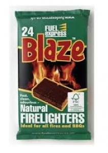 Natural Firelighters  24 pack  Each