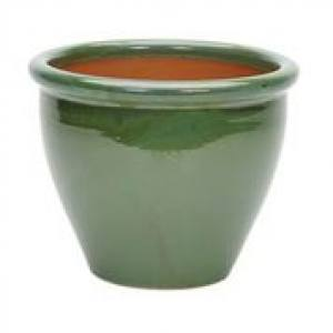Glazed Rim Malay Planter  28 x 22cm  Each