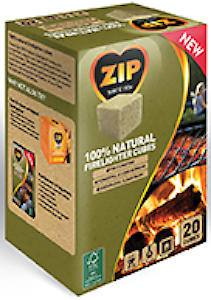Zip 100% Natural Firelighter  20 Cubes Each