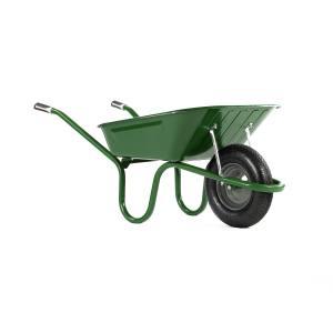Wheelbarrow Original Green  90 Litre Pneu. Each