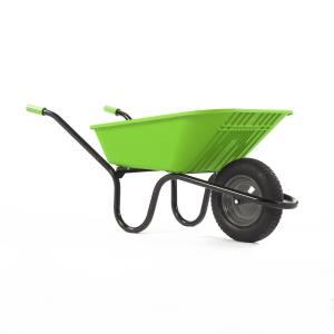 Wheelbarrow Polypro Go - Green90 Litre Pneu. Each
