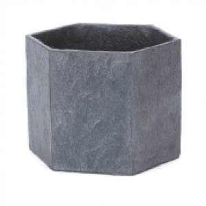 Slate Light Grey Hexagon  21 x 18 x 16cm Each