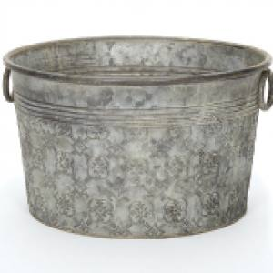 Chamberlain Metal Patterned Pan 37 x 20cm Each