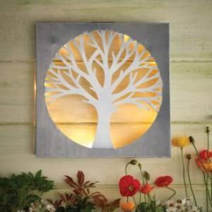 Solar Tree Wall Art  35x35x6cm  Each