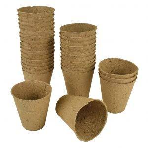 Fibre Pots Round 8cm 12 Pack