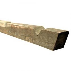 Post Timber Closeboard 100x125x1500mm 2V - 1R